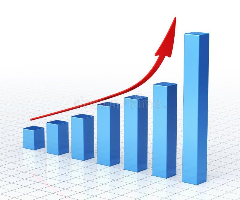 Geschäfts-Diagramm-Stange lizenzfreie abbildung