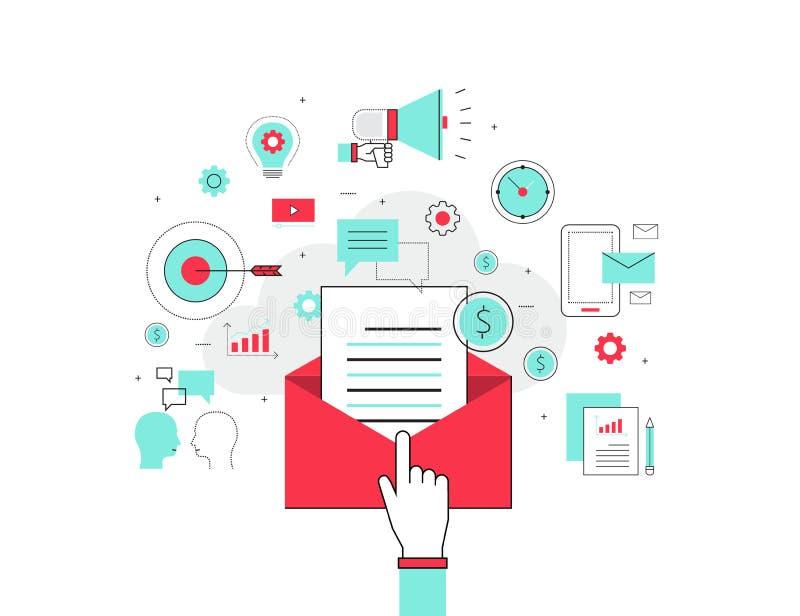 Geschäfts-E-Mail-Marketing-Konzept vektor abbildung