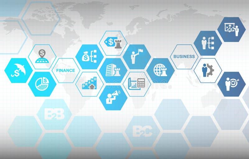 Geschäfts-Finanzbranding-Marketing-Hintergrund lizenzfreie abbildung