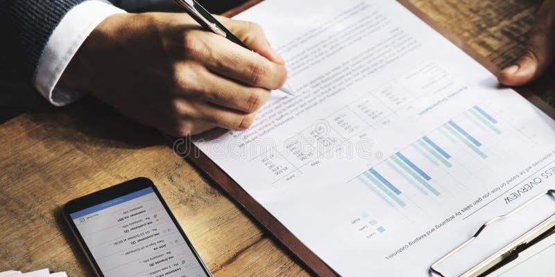 Geschäfts-Finanzierungs-Buchhaltungs-Bankwesen-Konzept stockfoto