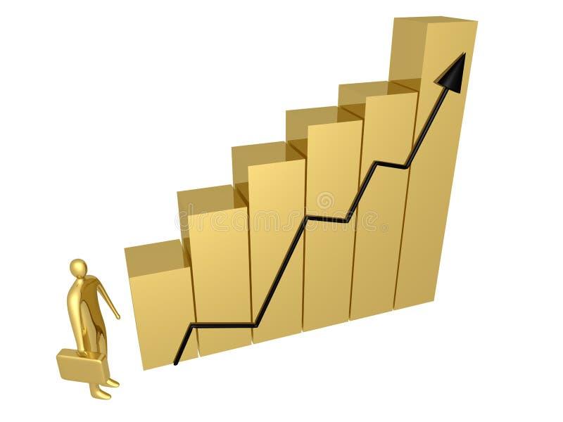 Geschäfts-Fortschritt vektor abbildung
