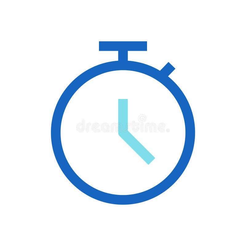 Geschäfts-Frist gefüllte Linie Ikonen-blaue Farbe lizenzfreie abbildung
