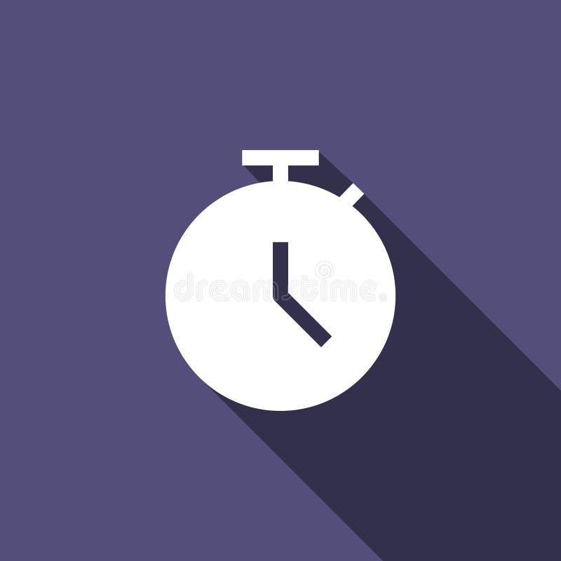 Geschäfts-Frist, Stoppuhr, Zeit-feste flache Ikone perfekt für Netz und mobile Apps vektor abbildung