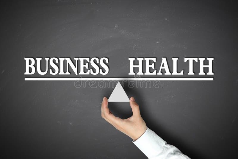 Geschäfts-Gesundheits-Balance stockbilder