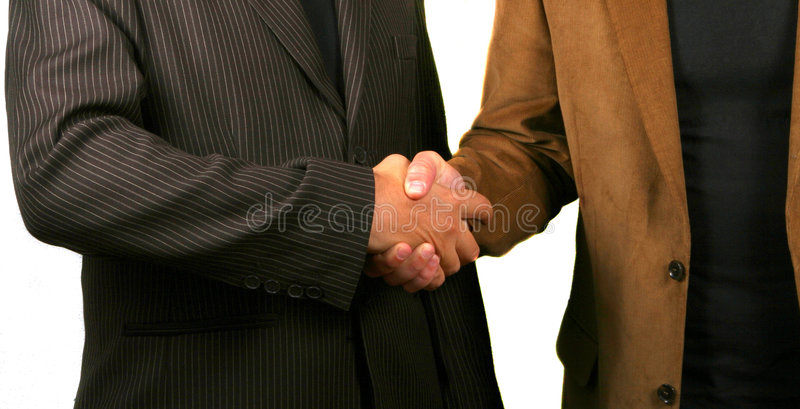 Geschäfts-Händedruck stockbild