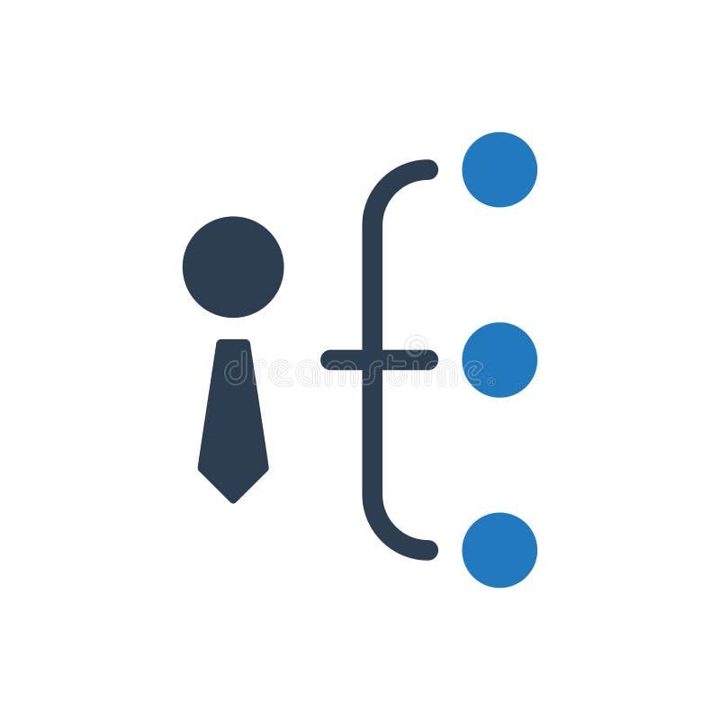 Geschäfts-Hierarchie-Ikone stock abbildung