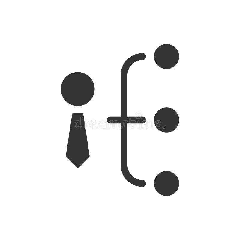 Geschäfts-Hierarchie-Ikone vektor abbildung