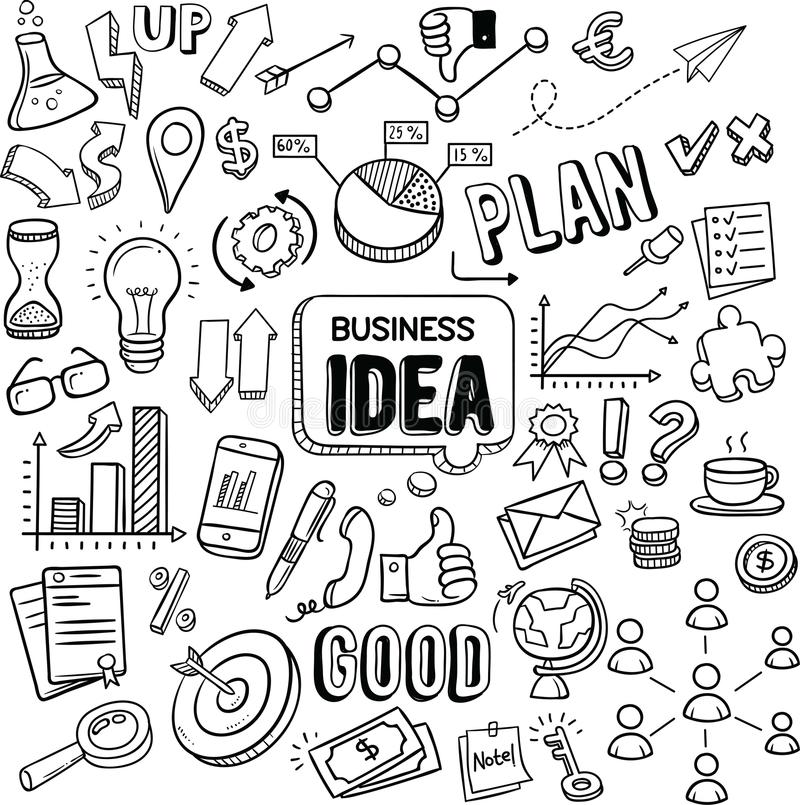 Geschäfts-Ideenvektorgekritzel stock abbildung
