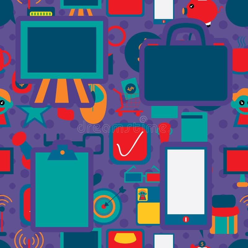 Geschäfts-Ikone 1 Seamless Pattern Company lizenzfreie abbildung