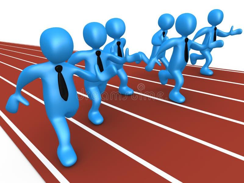 Geschäfts-Konkurrenz lizenzfreie abbildung
