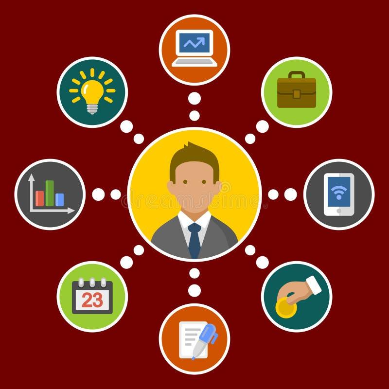 Geschäfts-Konzept Infographic-Gestaltungselemente herein stock abbildung