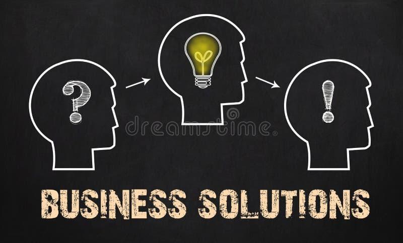 Geschäfts-Lösungen - Gruppe von drei Leuten mit Fragezeichen, c lizenzfreie stockfotos