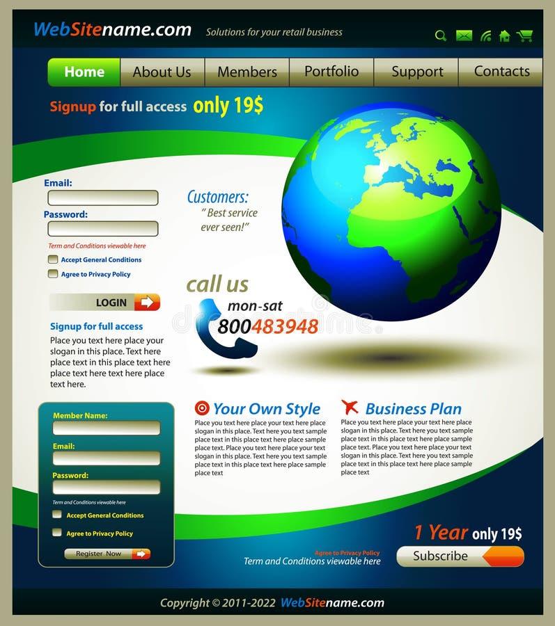 Geschäfts-Lösungs-Web site vektor abbildung