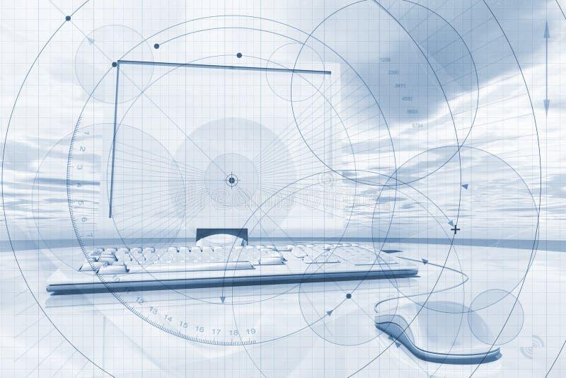 Geschäfts-Laptop-Hintergrund vektor abbildung