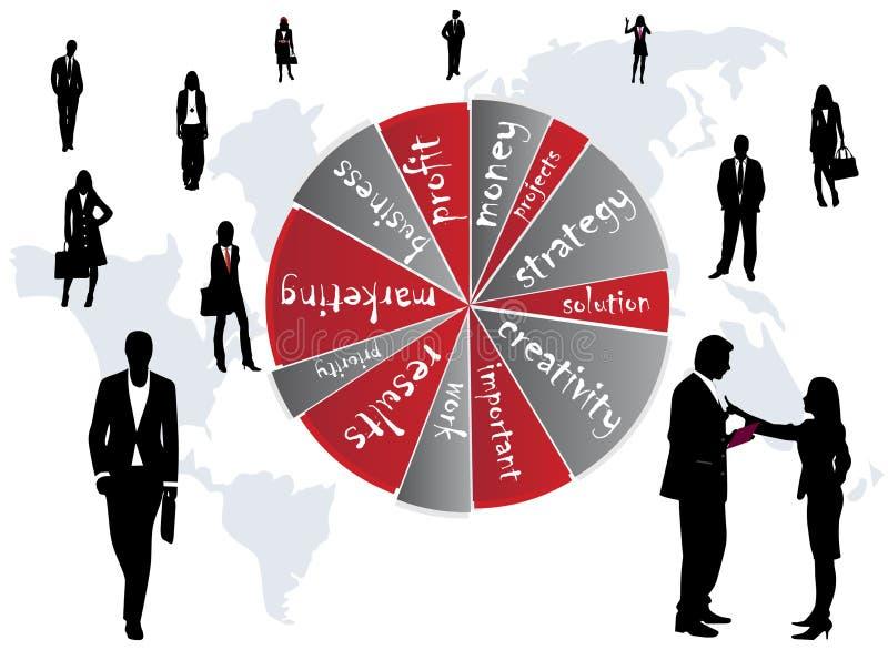 Geschäfts-Leute und Wörter vektor abbildung