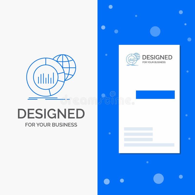 Geschäfts-Logo für großes, Diagramm, Daten, Welt, infographic Vertikale blaue Gesch?fts-/Visitenkarteschablone lizenzfreie abbildung