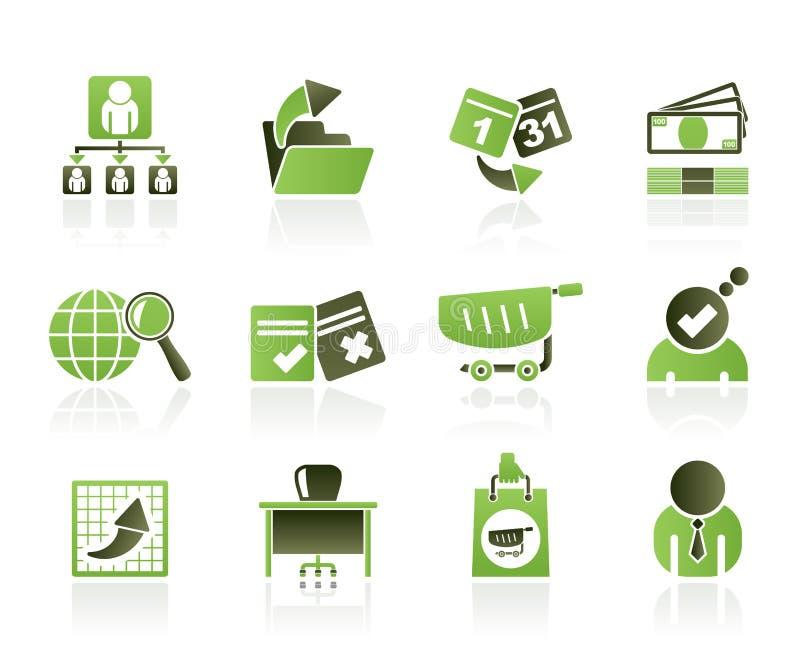 Geschäfts-, Management- und Büroikonen stock abbildung
