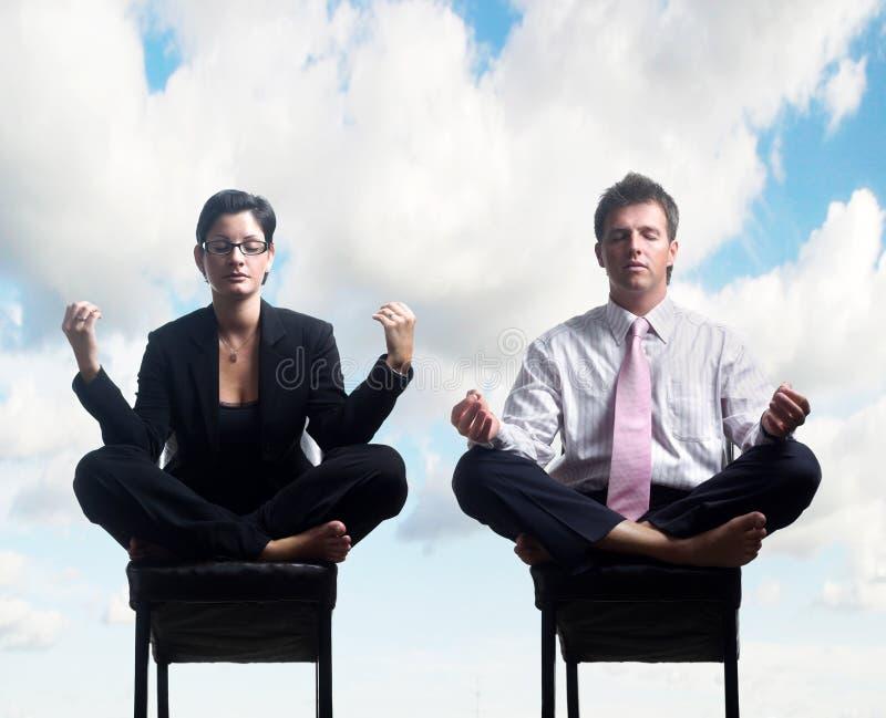 Geschäfts-Meditation lizenzfreie stockbilder