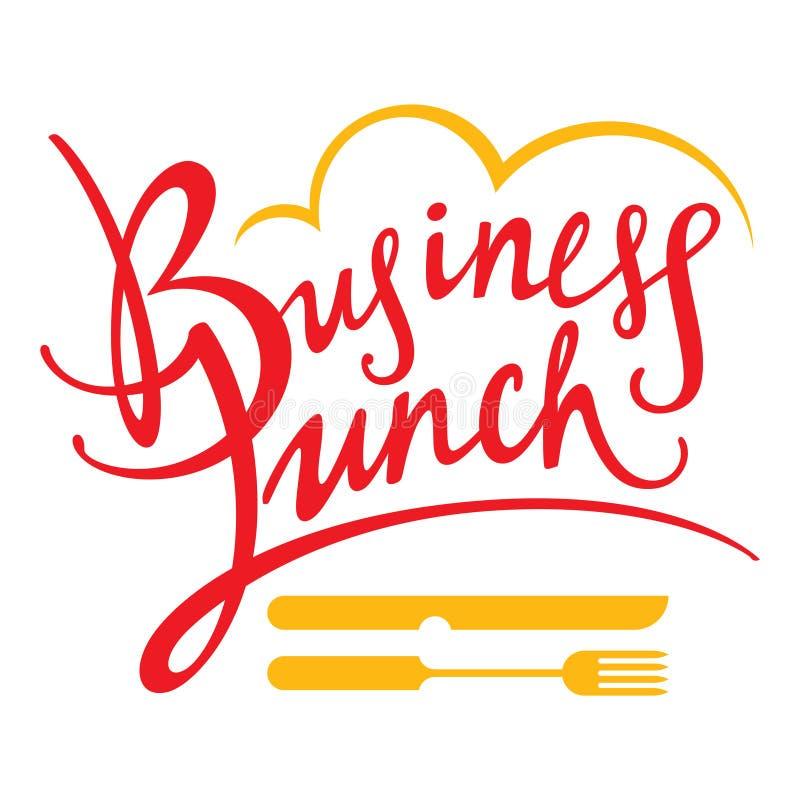 Geschäfts-Mittagessen lizenzfreie abbildung