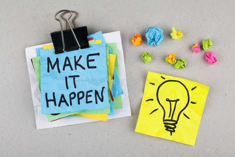 Geschäfts-Motivzitat lassen es geschehen lizenzfreie stockbilder