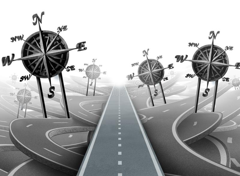 Geschäfts-Navigations-Erfolg lizenzfreie abbildung