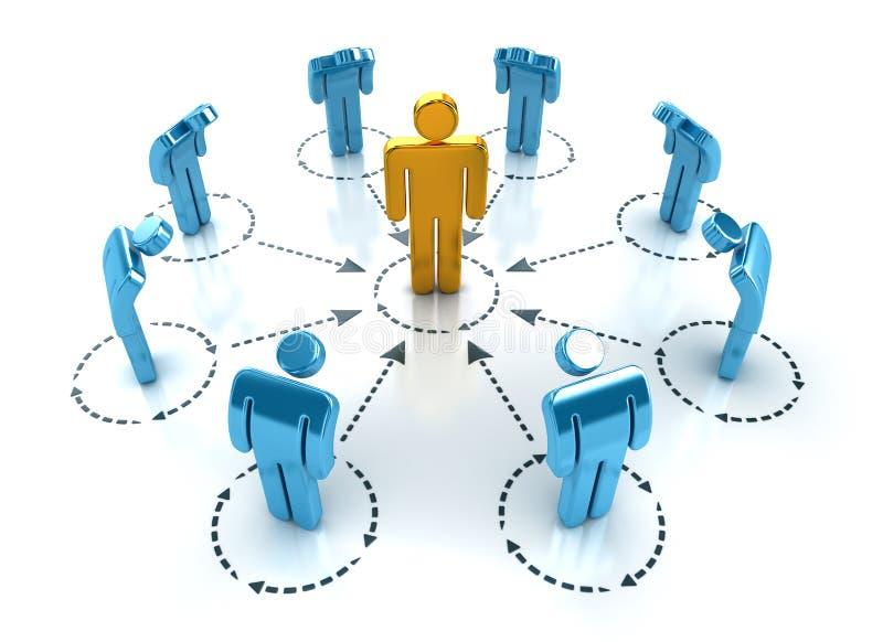 Geschäfts-Netz lizenzfreie abbildung