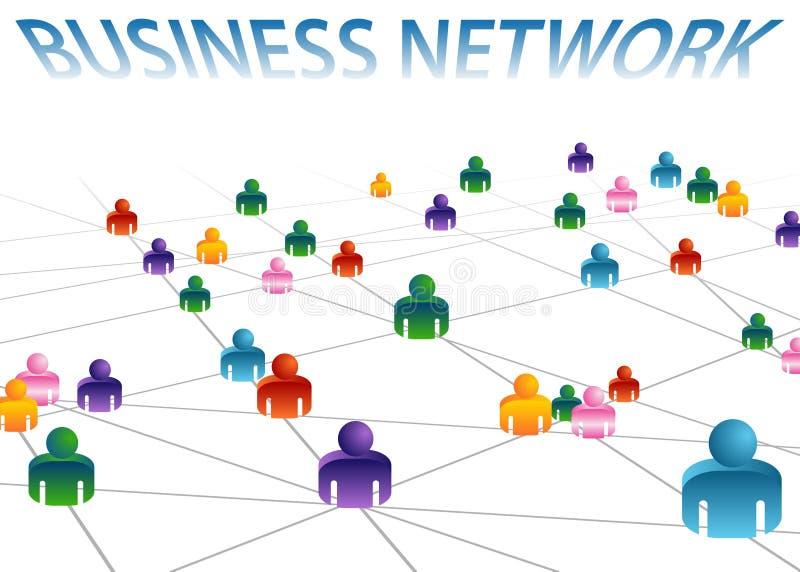 Geschäfts-Netz stock abbildung