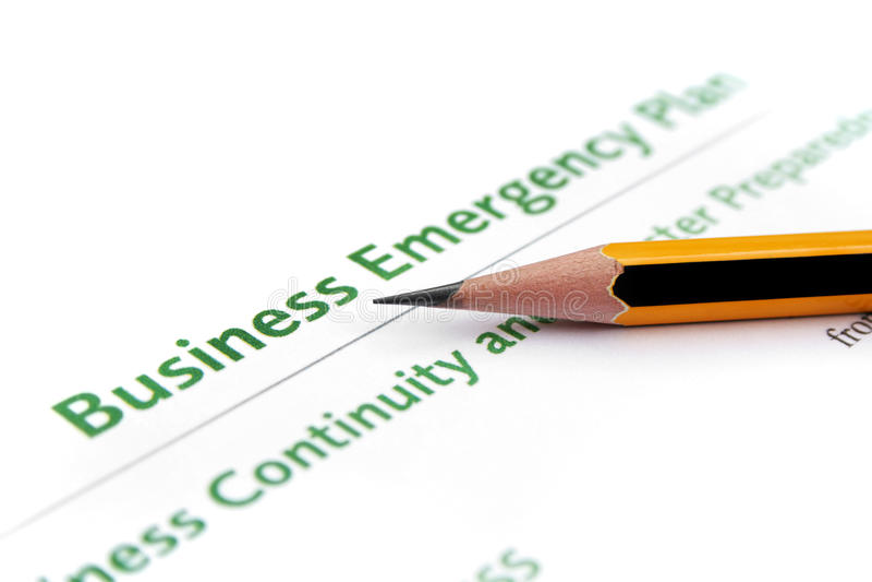 Geschäfts-Notfallplan lizenzfreie stockfotografie
