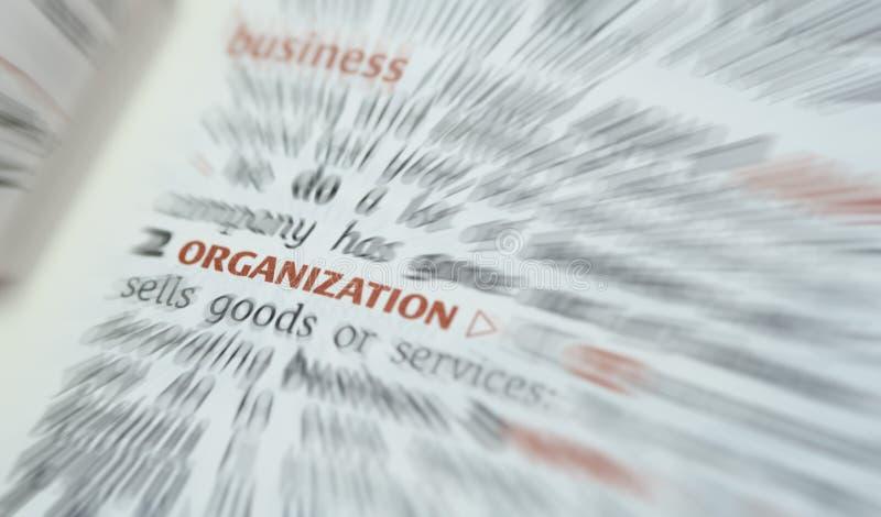 Geschäfts-Organisation stockfotografie