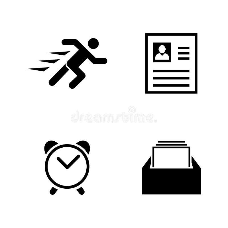 Geschäfts-Organisation Einfache in Verbindung stehende Vektor-Ikonen lizenzfreie abbildung