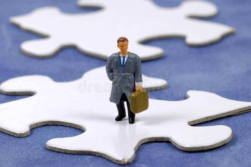 Geschäfts-Puzzlespiel lizenzfreie stockfotos