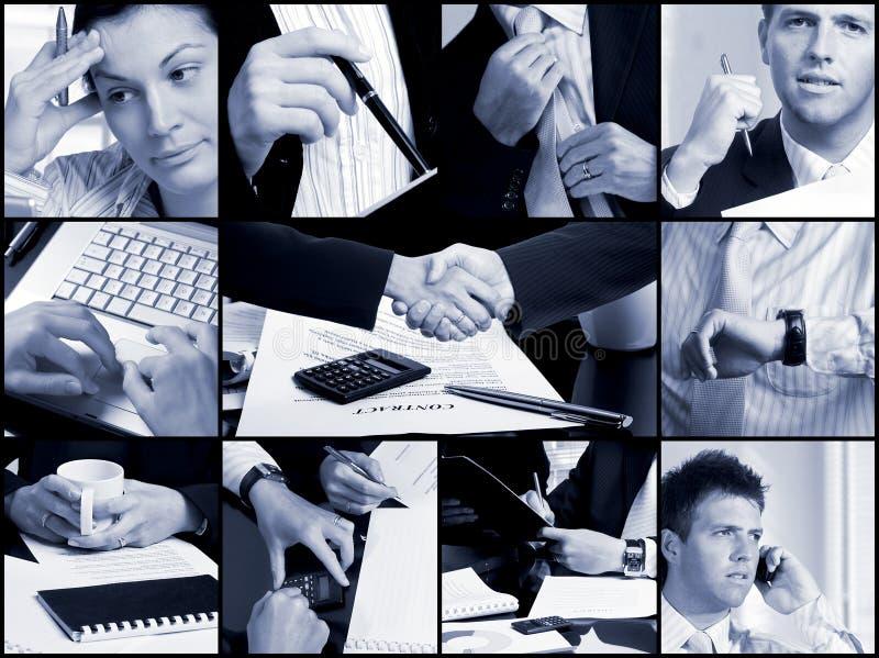 Geschäfts-Rasterfeld - Hände stockfotos
