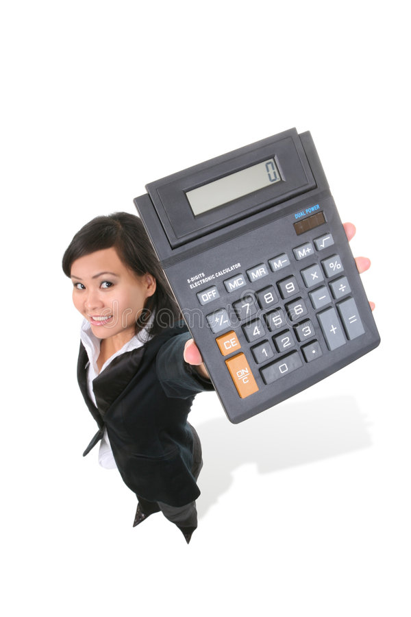 Geschäfts-Rechner lizenzfreies stockfoto