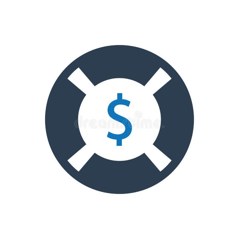 Geschäfts-Rettungs-Ikone vektor abbildung