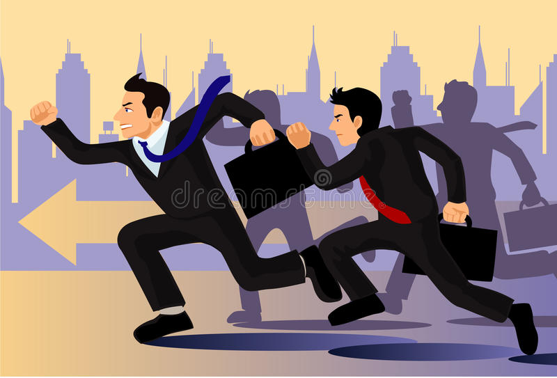 Geschäfts-Rivalität lizenzfreie abbildung