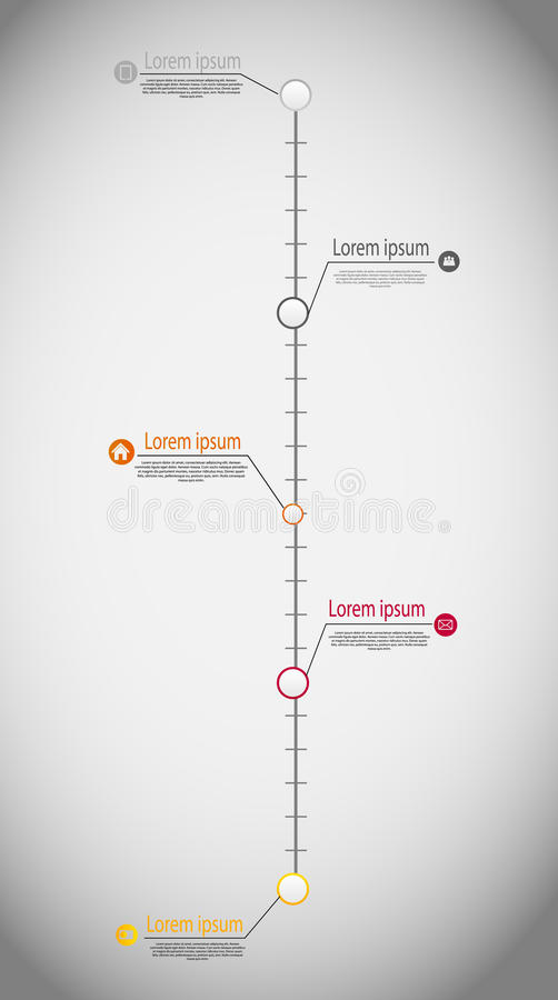 Geschäfts-Schablonenvektor der Zeitachse infographic stock abbildung