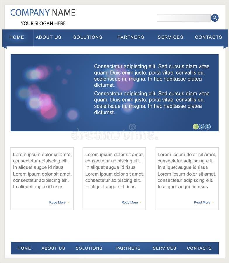 Geschäfts-site-Schablone stock abbildung