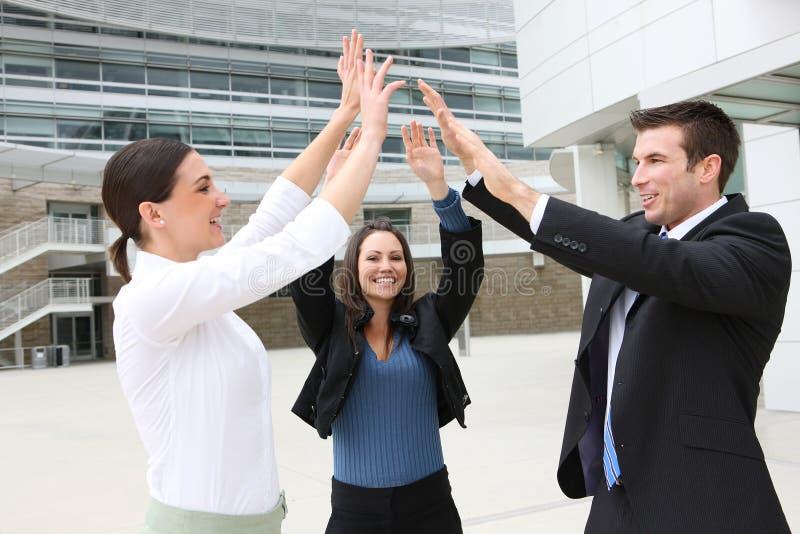 Geschäfts-Team-Feiern stockfotografie
