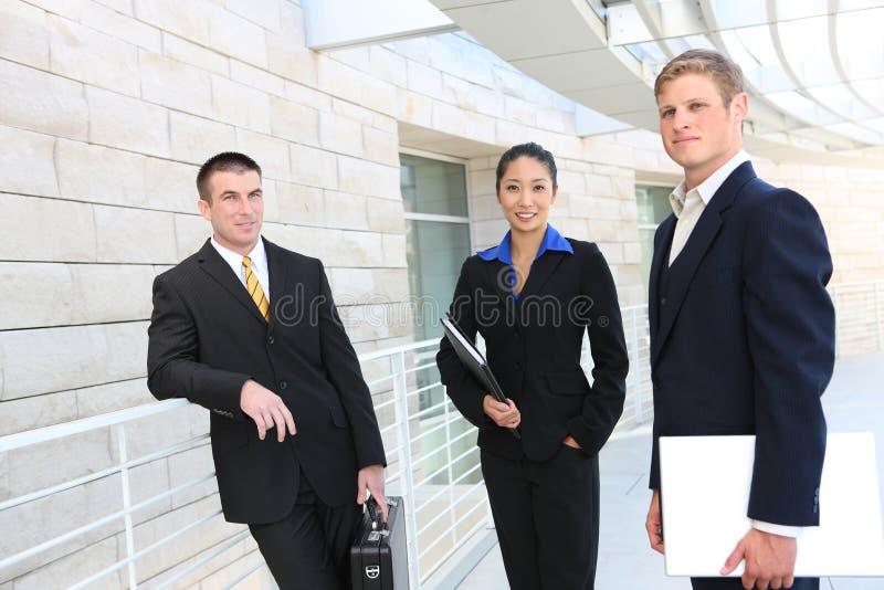 Geschäfts-Team (Fokus auf Frau) stockfoto