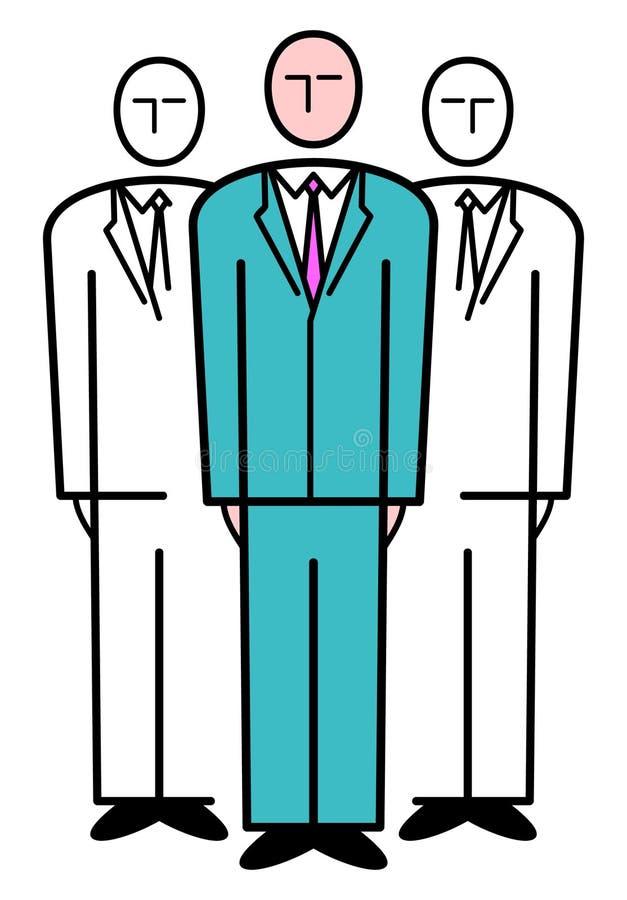 Geschäfts-Team. Vektorabbildung vektor abbildung