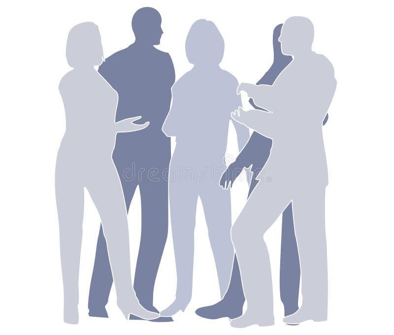 Geschäfts-Team-Zusammenarbeit im Blau stock abbildung