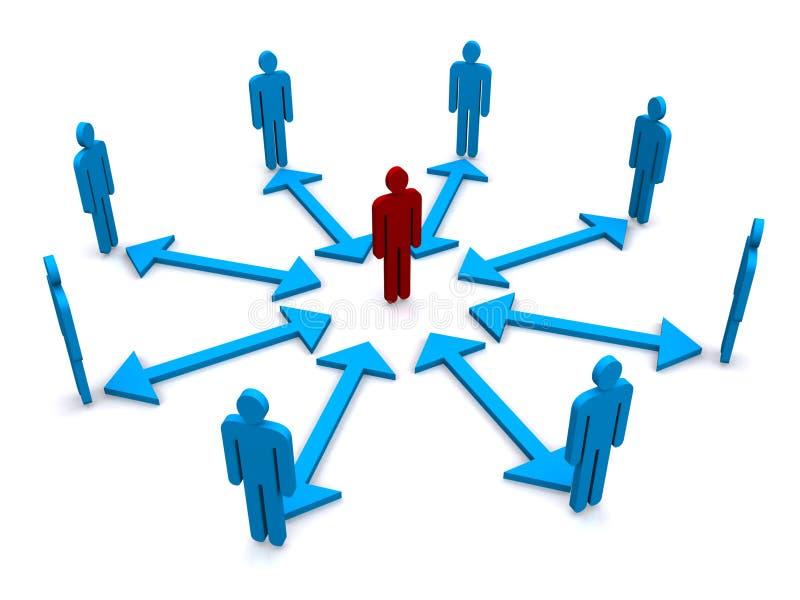 Geschäfts-Teamleiter vektor abbildung