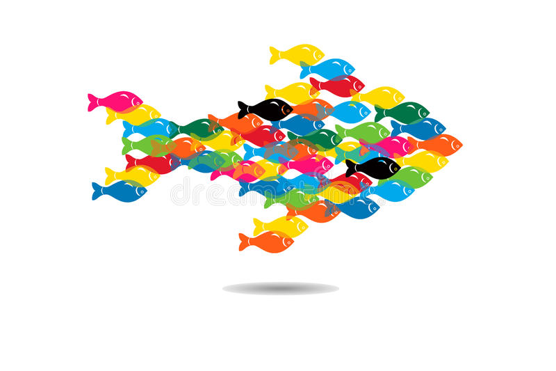 Geschäfts-Teamwork-Konzept-Hintergrund stock abbildung