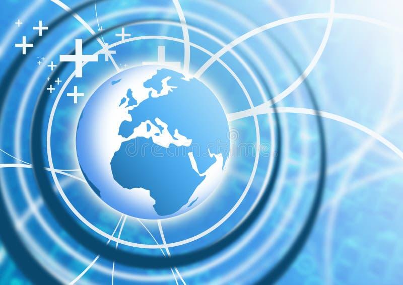 Geschäfts-Technologie-Hintergrund lizenzfreie abbildung
