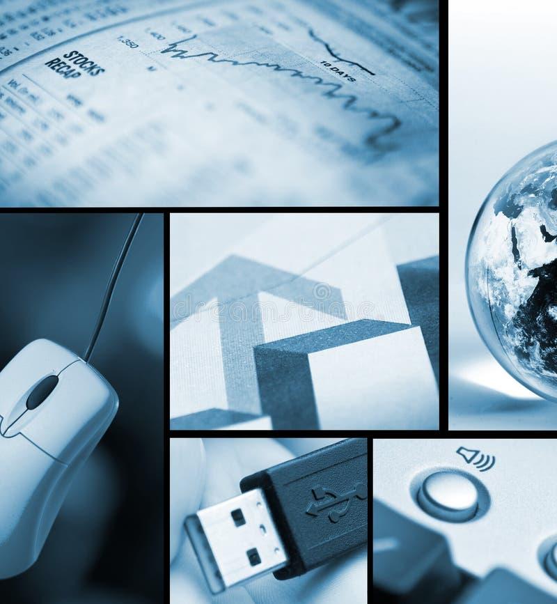 Geschäfts-/Technologiecollage stockbild