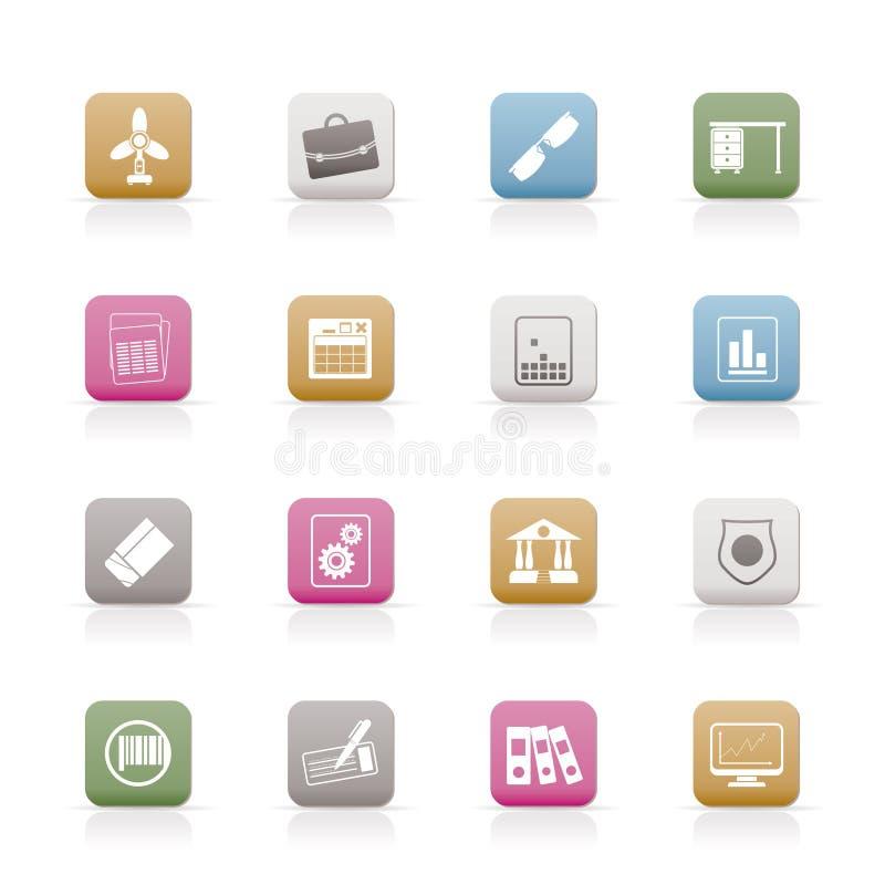 Geschäfts-und Büro-Ikonen stock abbildung