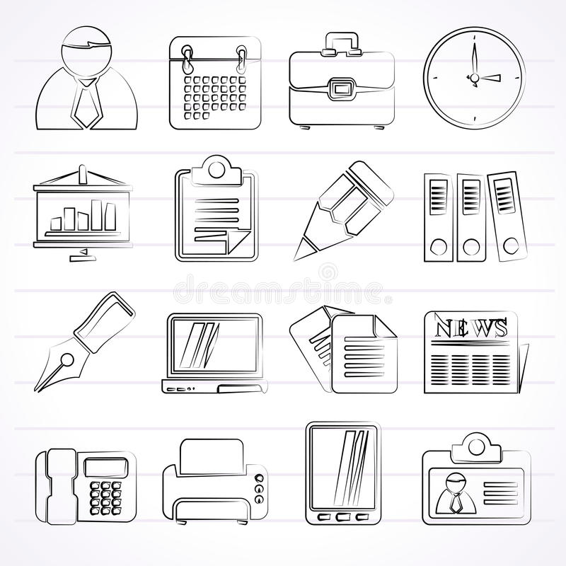 Geschäfts-und Büro-Ikonen vektor abbildung