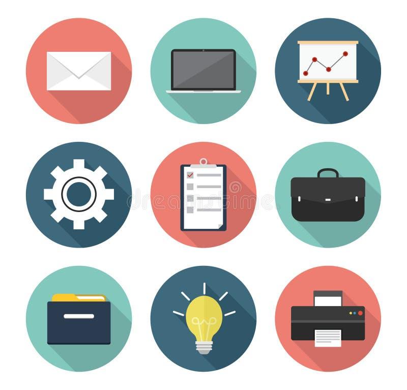 Geschäfts- und Büroikonen lizenzfreie abbildung