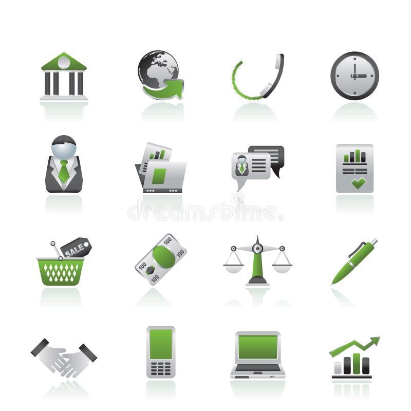 Geschäfts- und Büronachrichtenikonen lizenzfreie abbildung