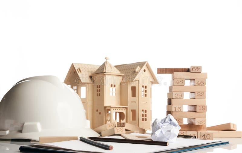 Geschäfts- und Baukonzept stockfotografie